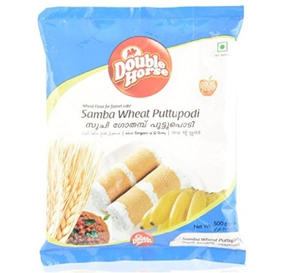 Double Horse Samba Wheat Puttupodi 500g
