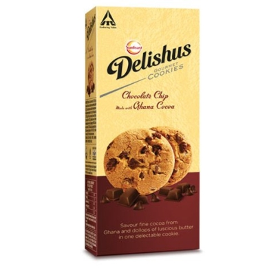 Sunfeast Delishus gourmet cookies chocolate chip ghana cocoa