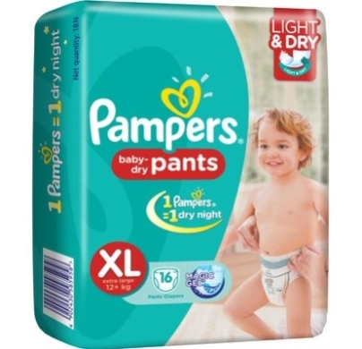 pampers baby dry pants XL 16s(12+kg)