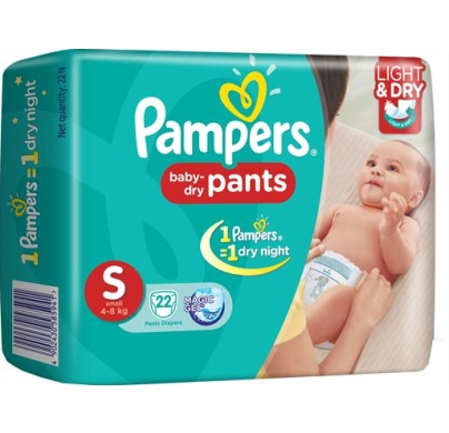 Pampers baby dry Pants Small 4-8 Kg 22pcs