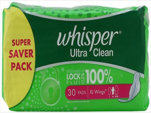 whisper ultra clean XL