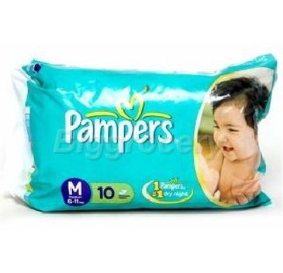 Pampers Baby dry Disposable diaperMedium 6-11 kg 10pcs