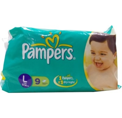 Pampers Baby dry Disposable diaper Large 9-14 kg  09 pcs