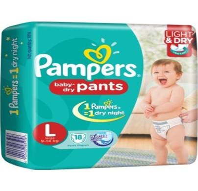 Pampers baby dry Pants Large 9-14 kg 18pcs