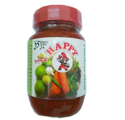 Happy Mixed Vegetable Pickle 400g