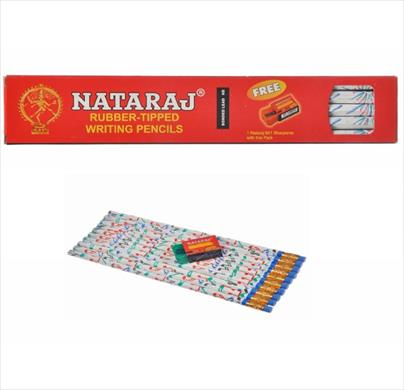 Nataraj Rubber Tipped Pencils