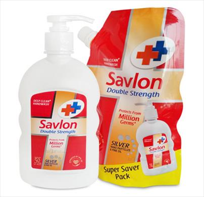 Savlon Double Strength Hand Wash  Free Savlon Refill Pack