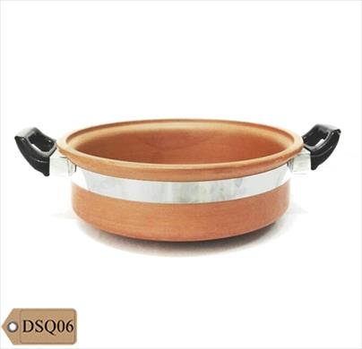 Red Clay Medium Handi Without Lid 2 Ltr