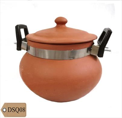 Clay Curry Pot with Handle 3 Ltr