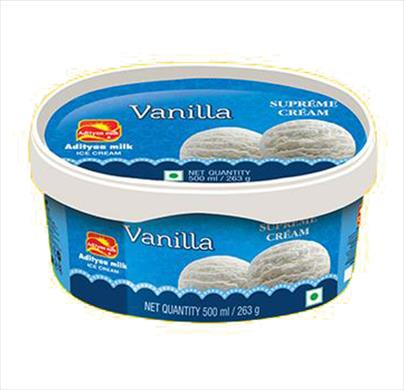 Adityaa milk icecream Vanilla tub 500ml